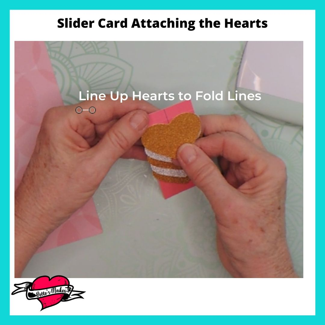 Slider Card Attaching the Hearts
