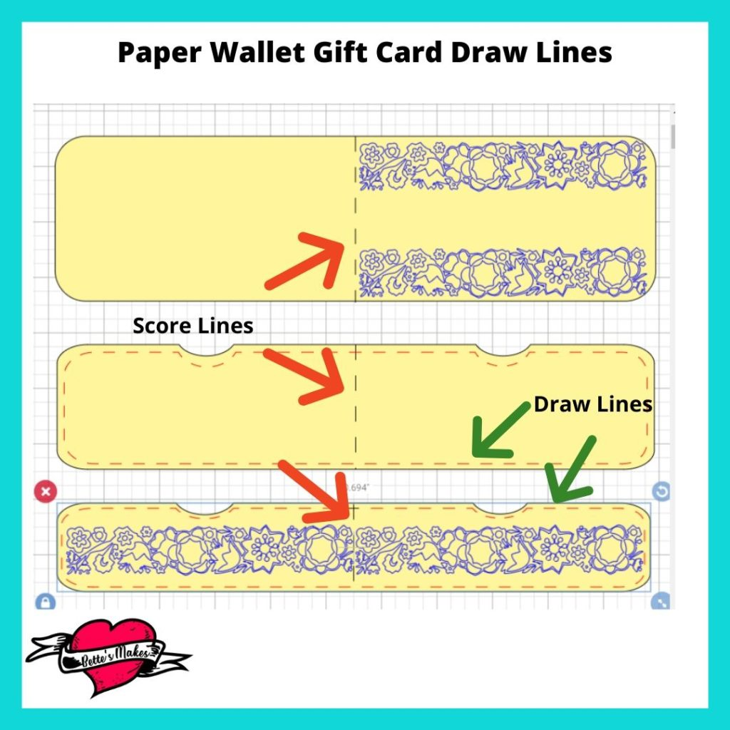 Paper Wallet Gift Card Draw and Score Lines
