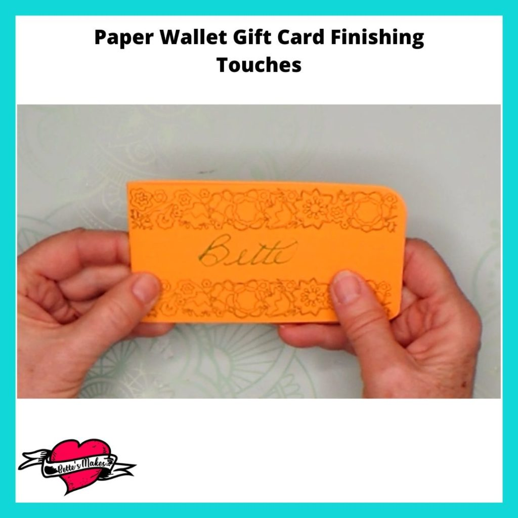 Paper Wallet Gift Card Finishing Touches