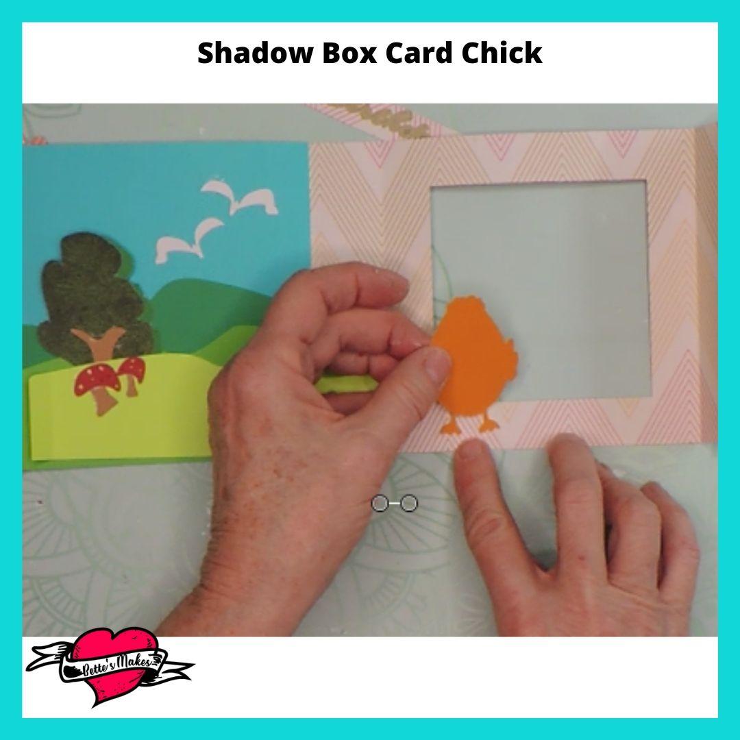 Shadow Box Card Chick