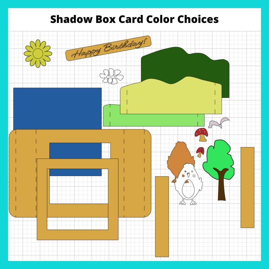 Shadow Box Card Color Choices
