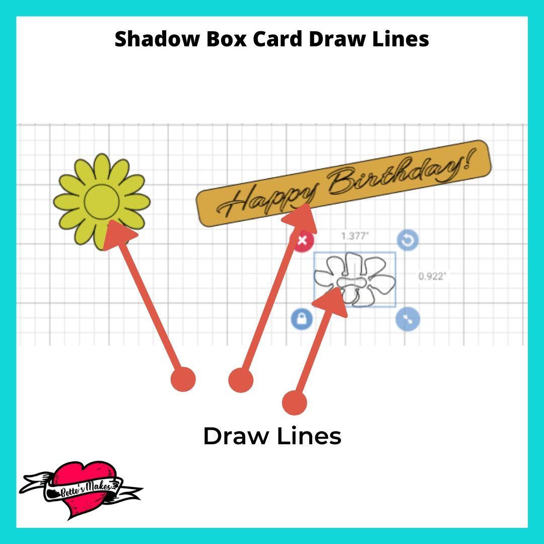 Shadow Box Card Draw Lines