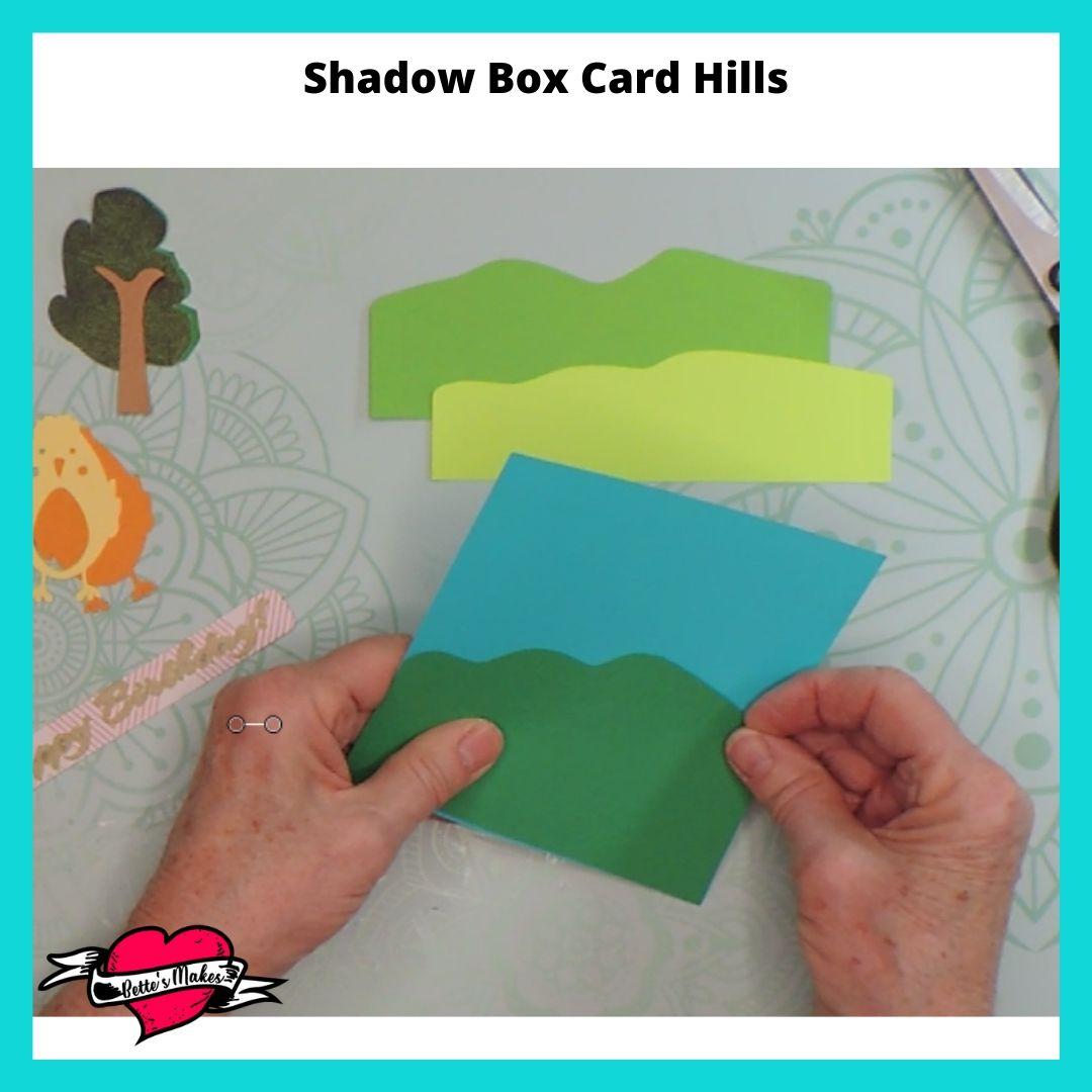 Shadow Box Card Hills