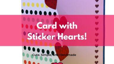 Cute Heart Handmade Card