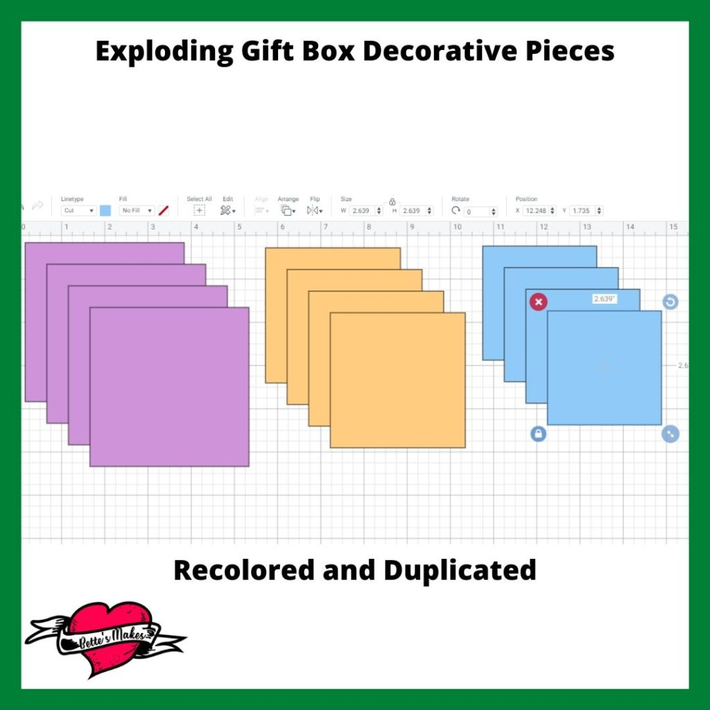 Exploding Gift Box Decorative Pieces