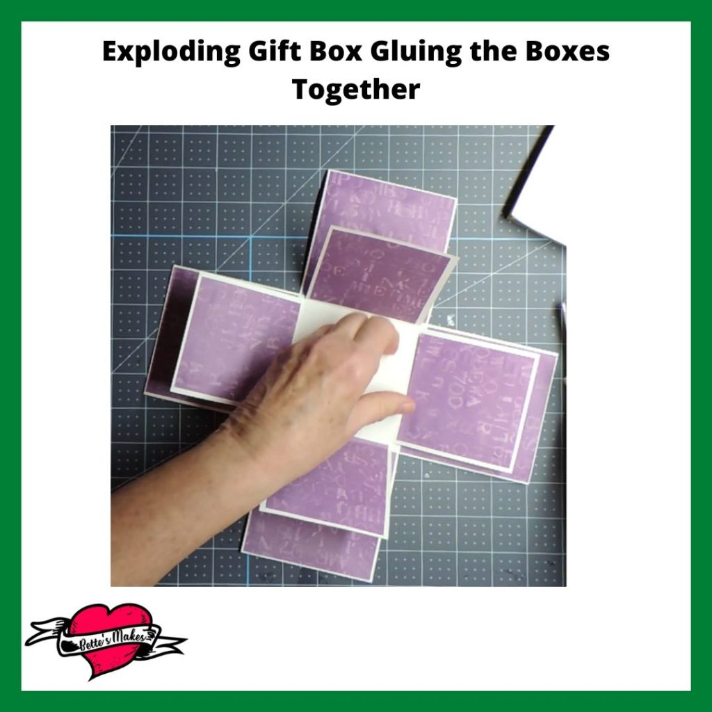 Exploding Gift Box Gluing the Boxes Together