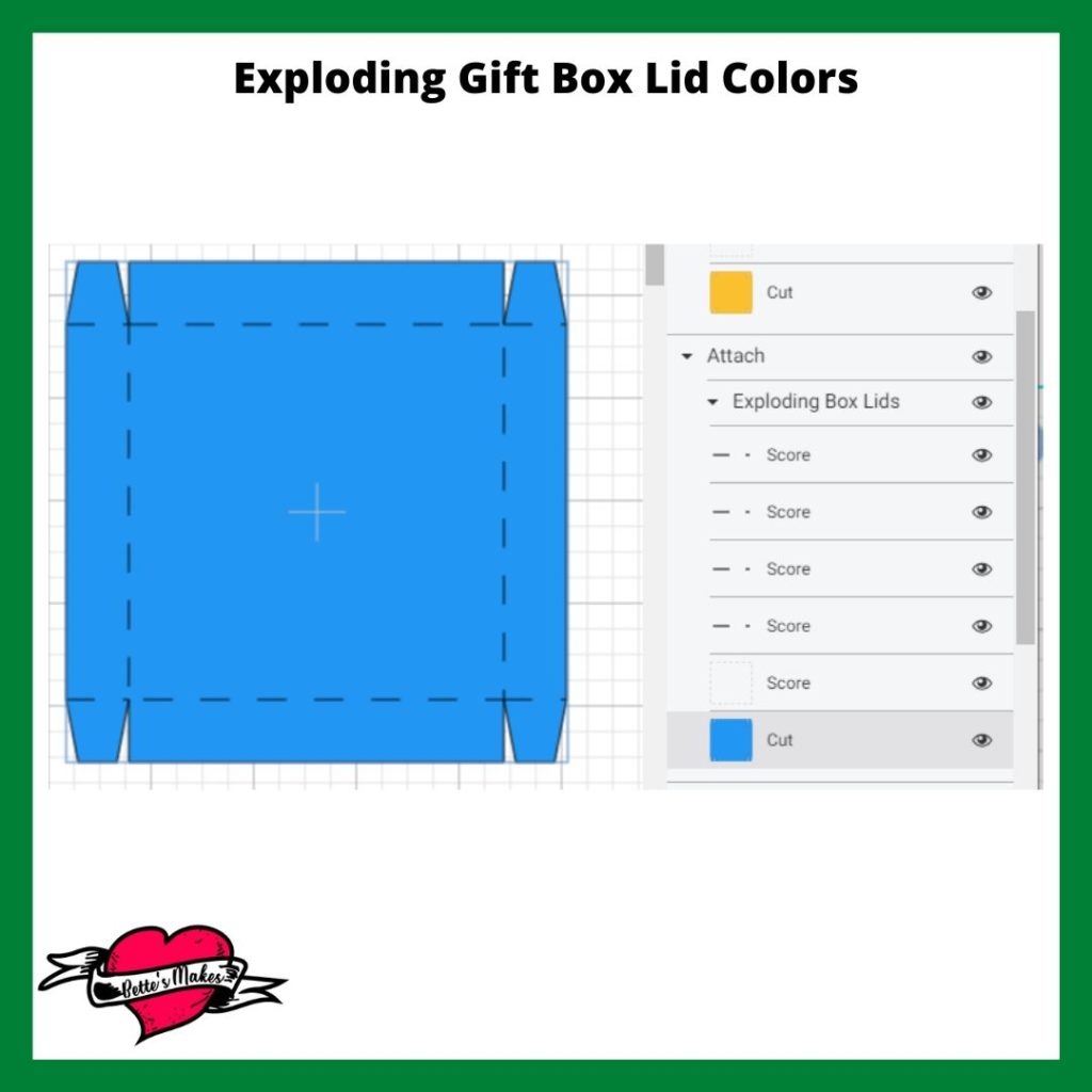 Exploding Gift Box Changing Colors in the Layers Panel