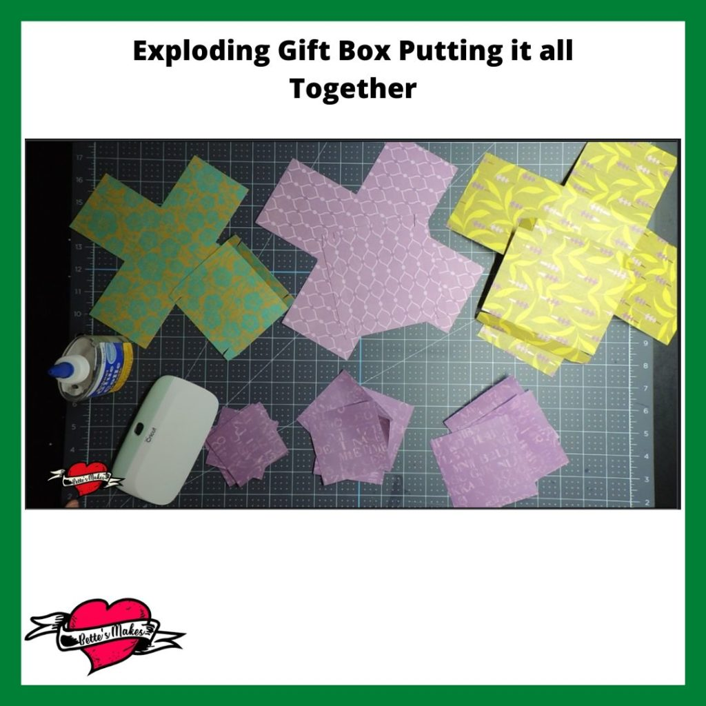 Exploding Gift Box Putting it All Together