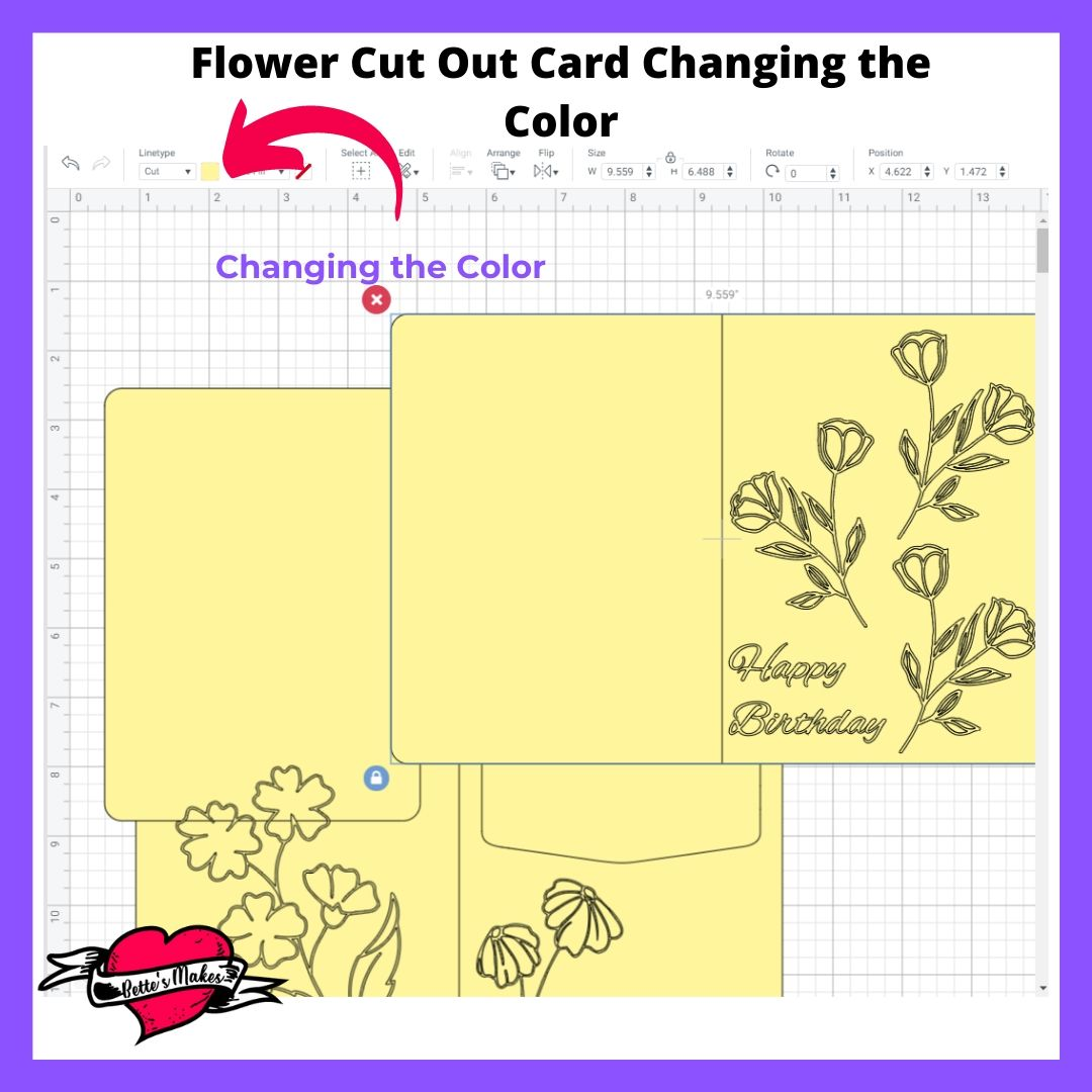 Flower Cut Out Card Changing the color