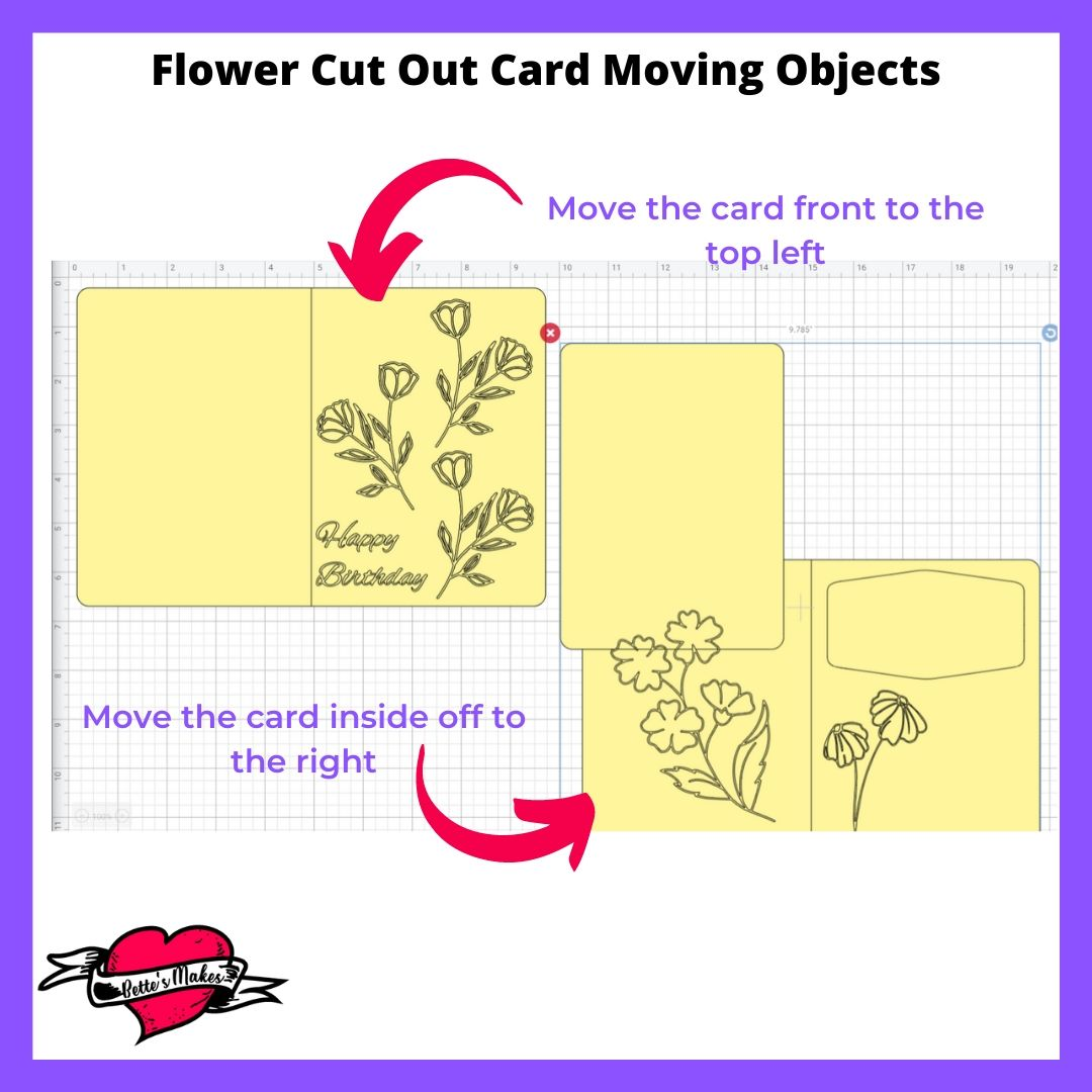 Flower Cut Out Card Moving Objects