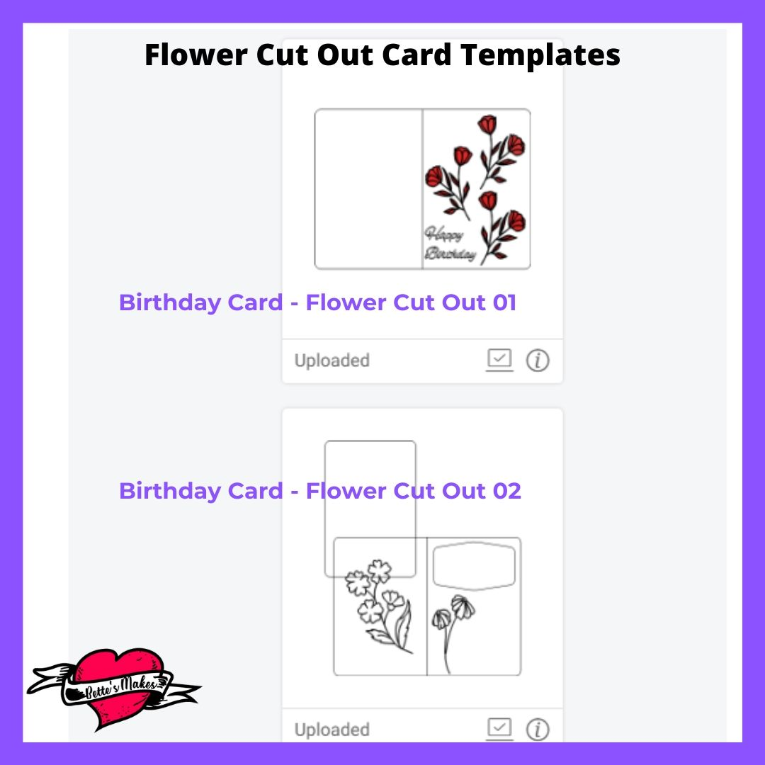 Creative Handmade Birthday Card with Cut Out Flowers Template