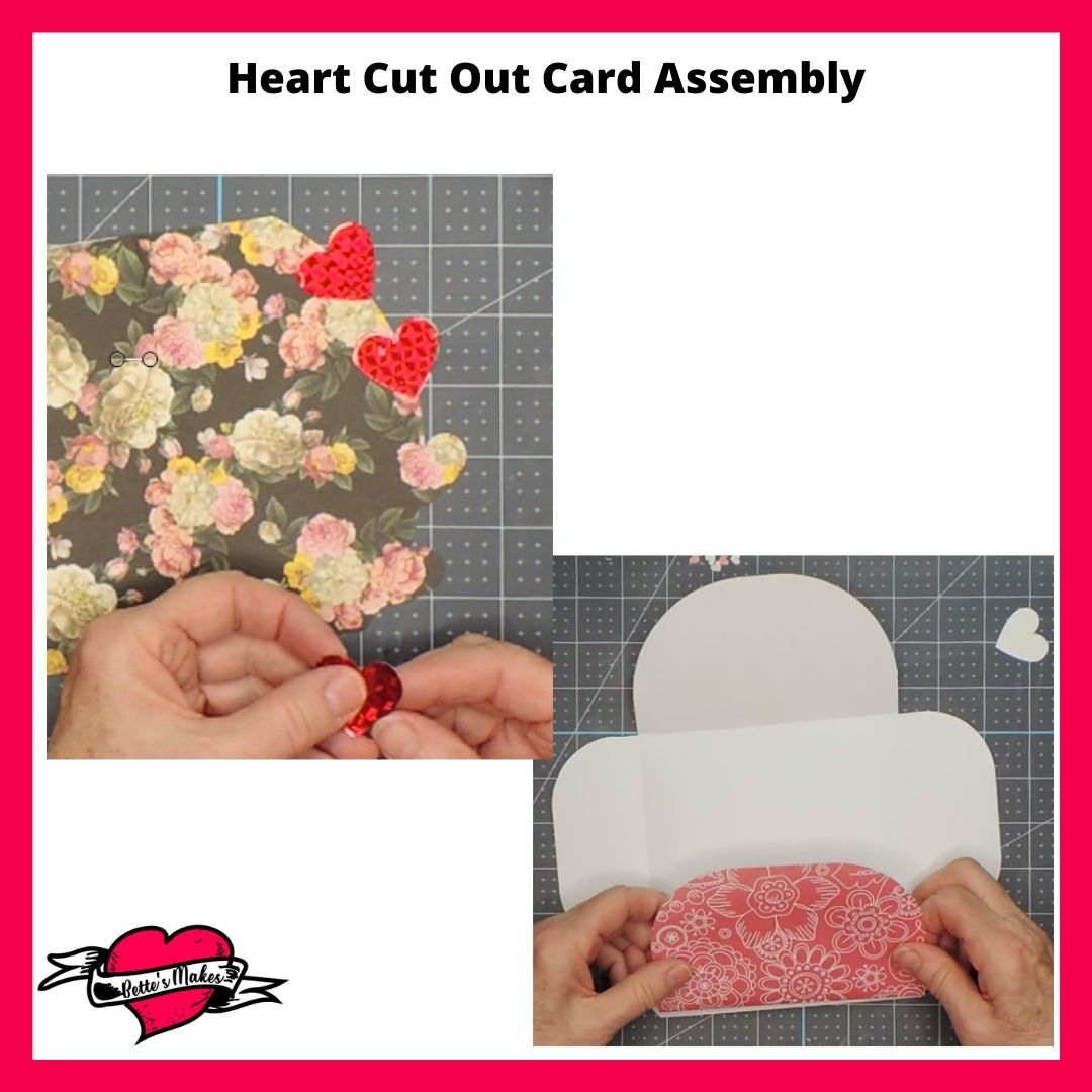 Heart Cut Out Card Assembly