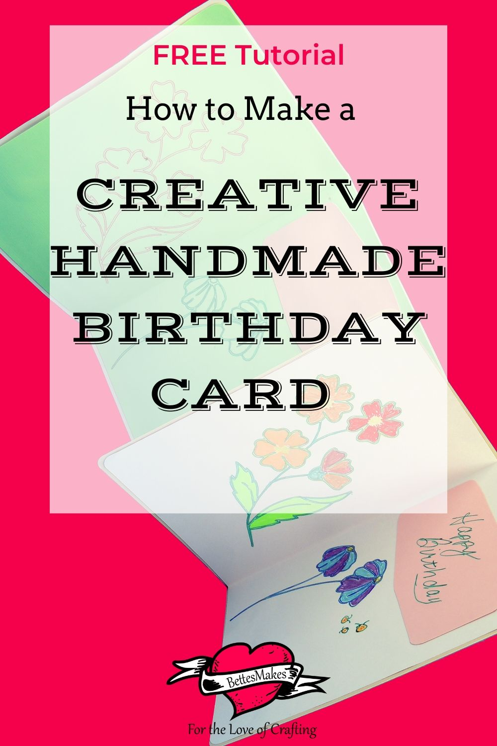 How to Make a Creative Handmade Birthday Card with Cut Out Flowers