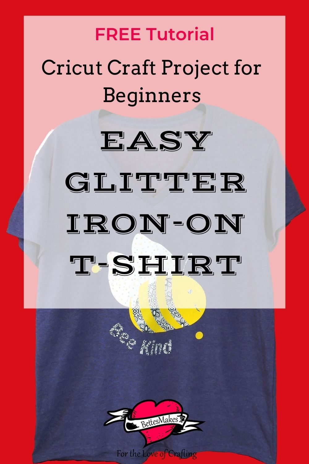 Easy Glitter Iron-On Project - Beginner Friendly