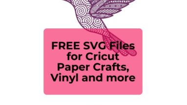 FREE SVG Files for Cricut Paper Crafts Vinyl and more - BP
