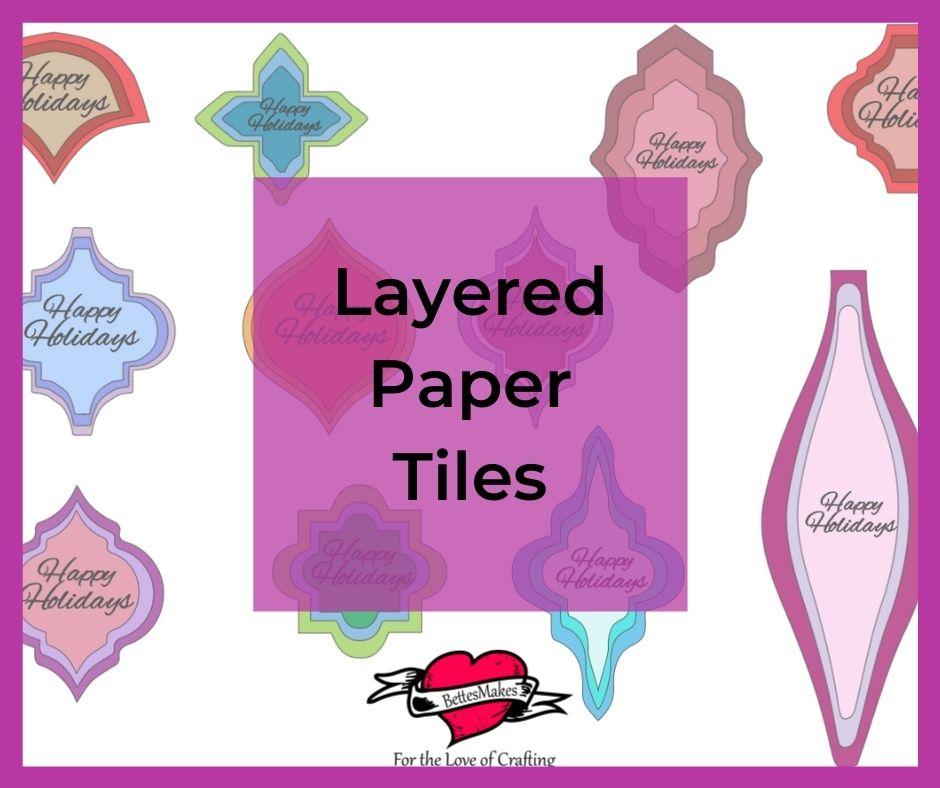 Arabesque Tile Ornaments Using Paper Layering