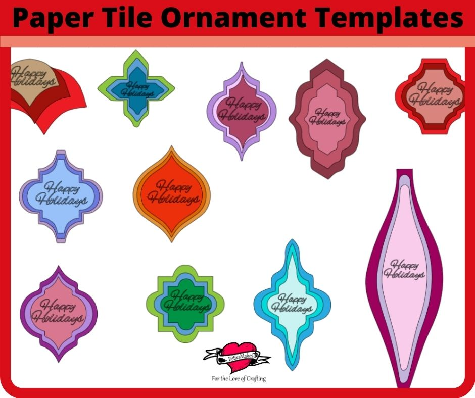 Paper Tile Ornaments - Arabesque and more