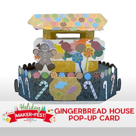 Gingerbread Cart Card 2020