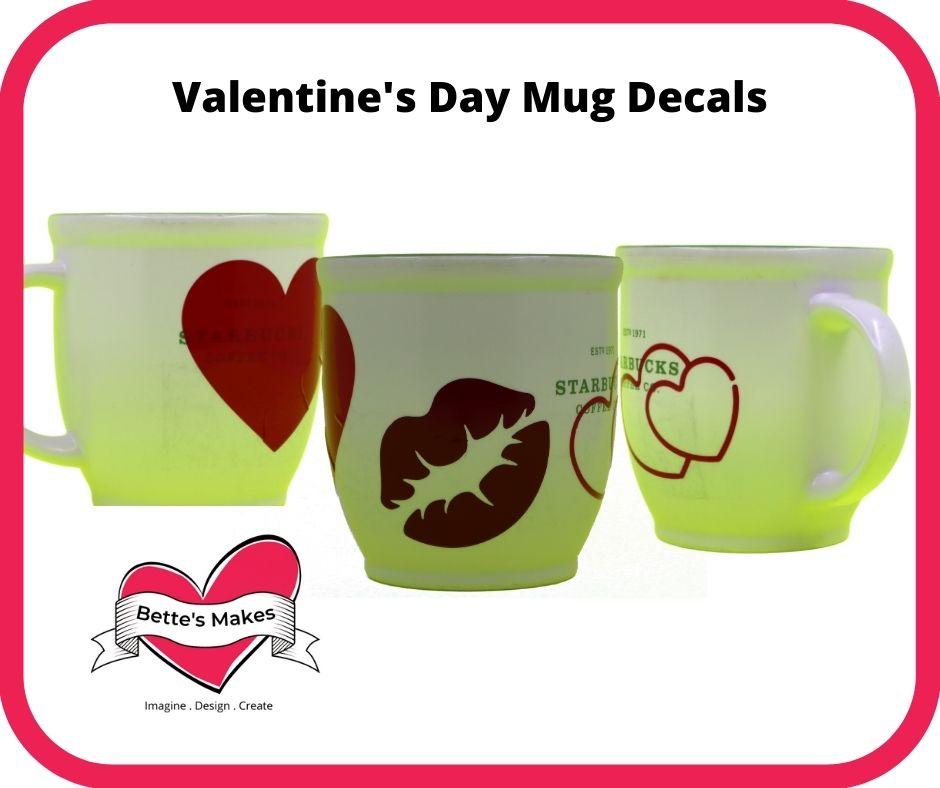 Valentine's Day Mug Decals