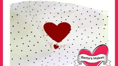 Valentine's Day Tea Towel - Iron-On Project