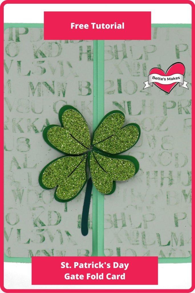 St Patrick's Day Gatefold Card