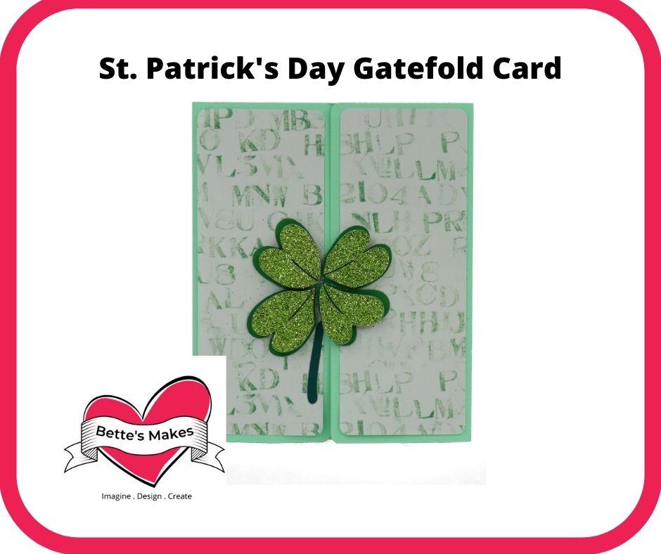 St Patricks Day Gatefold Card