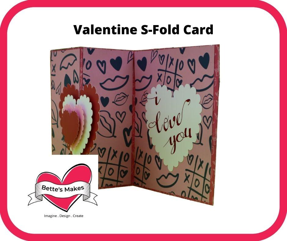 Valentine S-Fold Card