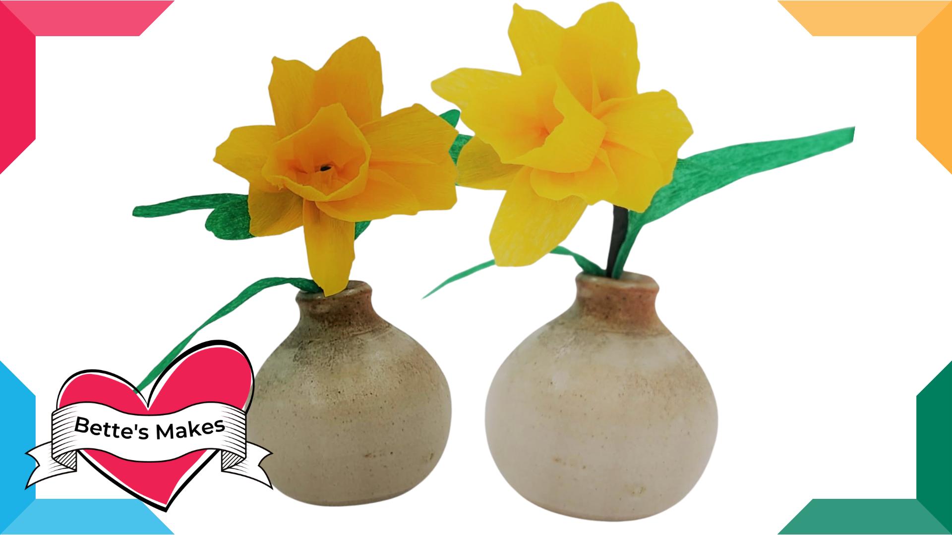 DIY Paper Flowers – Daffodil
