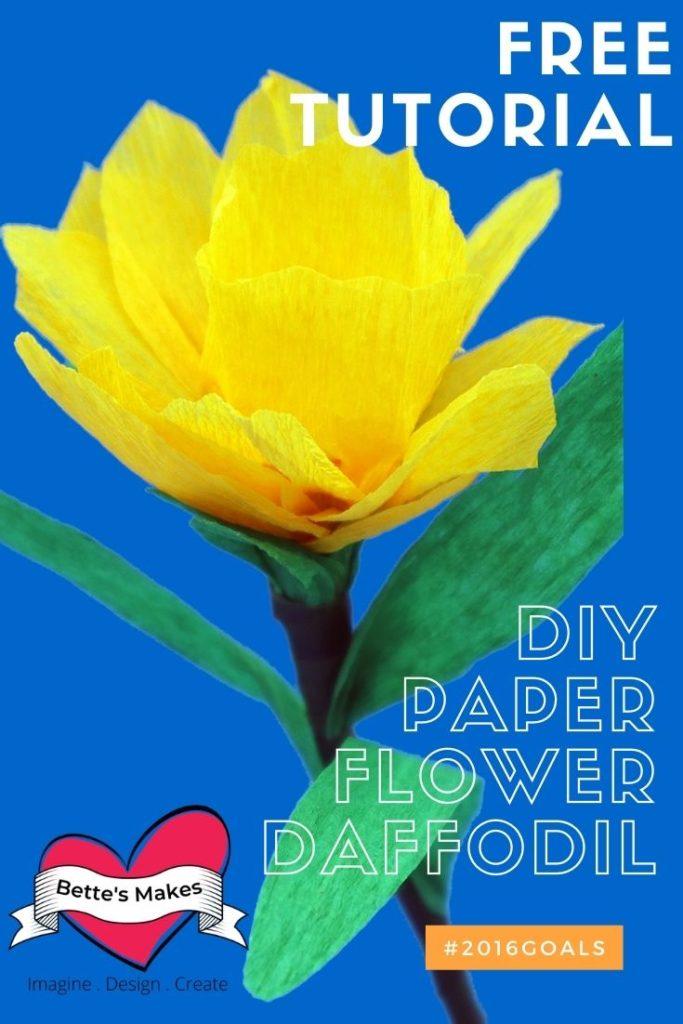 DIY Paper Flower Daffodil