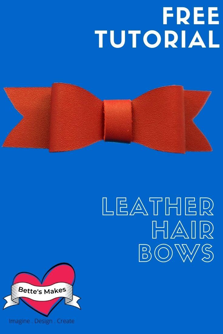 How to Make Easy Leather Hair Bows with Your Cricut