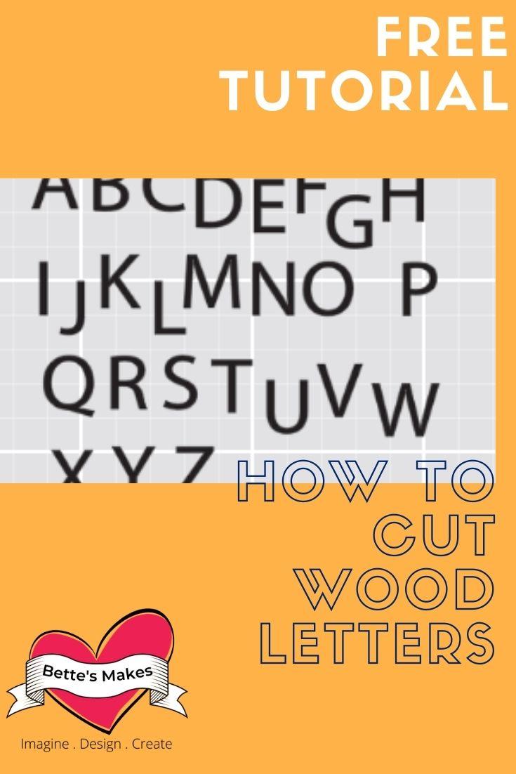 Cricut Craft: Cutting Wooden Letters on a Cricut
