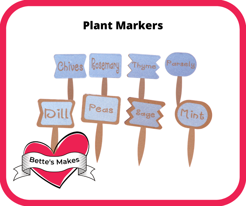 Cricut Craft: How to Make Plant Markers