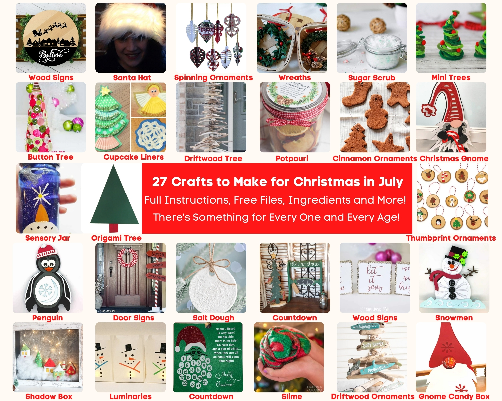 27 Fabulous Crafts for Christmas in July!